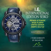 Seiko Premier Steel 42.9mm Blue No numerals Singapore, Singapore