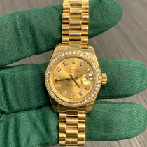 Rolex Lady-Datejust Oro amarillo 26mm Champán Sin cifras