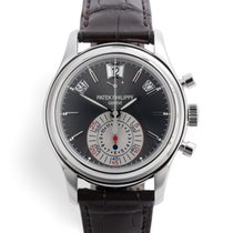 Patek Philippe Platinum Automatic Grey Annual Calendar Chronograph
