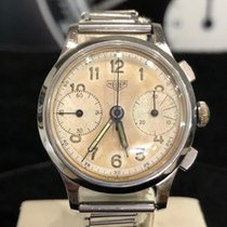 Heuer Steel 37mm Manual winding Big Eyes pre-owned