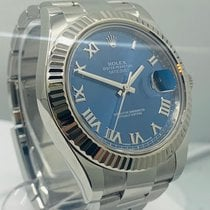 Rolex Datejust II Or/Acier 41mm Bleu Sans chiffres