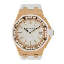 Audemars Piguet AP Offshore Lady 37mm Rose Gold Diamond Bezel...