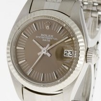 Rolex Oyster Perpetual Date Lady Stahl/Weißgold Ref. 6917