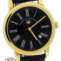 Martin Braun Classic BL MAB 88 18K Yellow Gold Plated 41mm...