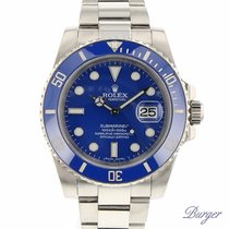 Rolex Submariner Date White Gold / Blue / Cerachrom