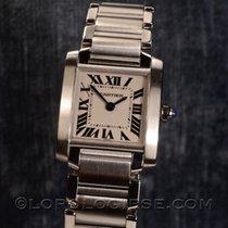 Cartier Tank Francaise Lady`s Ref. 2300 Steel Bracelet Watch