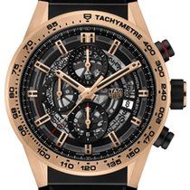 TAG Heuer Rose gold Automatic Black new Carrera Calibre HEUER 01