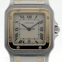 Cartier Santos Galbée gebraucht 32mm Gold/Stahl