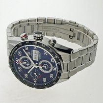 TAG Heuer Carrera Calibre 16 pre-owned 43mm Black Chronograph Date Weekday Tachymeter Steel