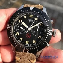 Heuer German Military Flyback Chrono 43mm 1550SG
