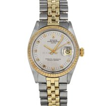 Rolex Oyster Perpetual Date Gold/Steel 34mm Silver No numerals United States of America, Maryland, Baltimore, MD