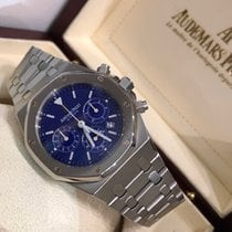 Audemars Piguet Royal Oak Chronograph Сталь 39mm Синий Без цифр