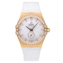 Omega Constellation Ladies pre-owned 35mm White Crocodile skin