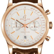 Breitling Transocean Chronograph 38 Rose gold 38mm Silver