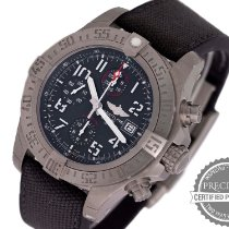 Breitling Avenger Bandit gebraucht 45mm Grau Chronograph Datum Textil