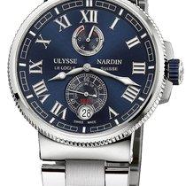 Ulysse Nardin Marine Chronometer Manufacture Steel 43mm Blue United States of America, New York, Airmont
