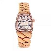 Cartier La Dona 18K Rose Gold Diamond Bezel Roman Numerals...