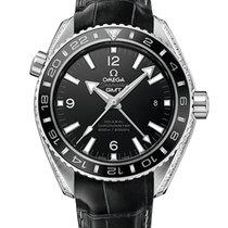 Omega Platinum Automatic Black 43.5mm new Seamaster Planet Ocean