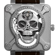 Bell & Ross BR 01 new 2019 Manual winding Watch with original box and original papers BR01-SKULL-SK-ST