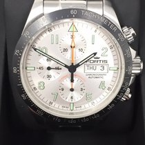 Fortis Steel 42mm Automatic Fortis Cosmonauts Ceramic Chronograph Automatic Uhr Full-Set pre-owned