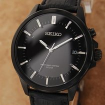 Seiko Solar Steel 40mm Black