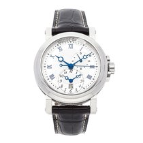 Breguet Steel Automatic Silver Roman numerals 42mm pre-owned Marine