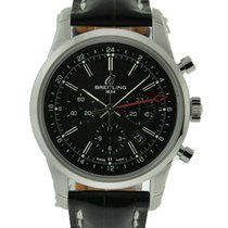Breitling Transocean Chronograph GMT Zeljezo Crn