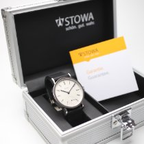 Stowa new Manual winding Display Back Small Seconds Blue Steel Hands Only Original Parts 41mm Steel Sapphire Glass