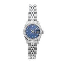 Rolex Oyster Perpetual Lady Date Acél 26mm Kék Római