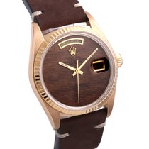 Rolex Day-Date 36 18038-woodgrain-leather 1970 pre-owned