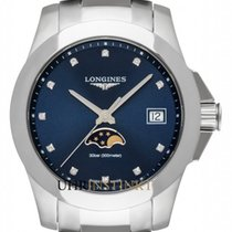 Longines Conquest Steel 34mm Blue