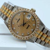 Rolex Datejust Złoto białe 31mm Szampański Bez cyfr