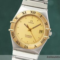 Omega Constellation occasion 34.5mm Or Date Cuir