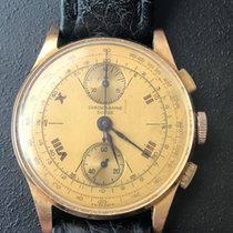 Chronographe Suisse Cie Or rose 39mm Remontage manuel 9 occasion