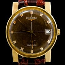 Longines Red gold Automatic Brown No numerals 34mm pre-owned