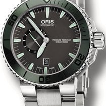 Oris Aquis Small Second new Automatic Watch with original box 74376734157MB