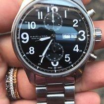 Hamilton Khaki Officer chrono chronograph steel acciaio