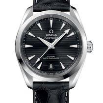 Omega Steel Automatic Black No numerals 41mm new Seamaster Aqua Terra