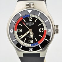 Davosa Apnea Diver Swiss Stainless Steel Automatic Black Watch...