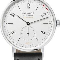 NOMOS Acier Remontage automatique Blanc Arabes 40.5mm nouveau Tangente Neomatik