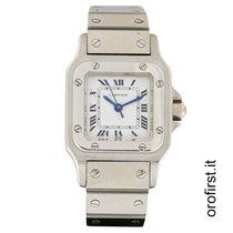 Cartier 24mm Automatico 1990 usato Santos (submodel) Bianco