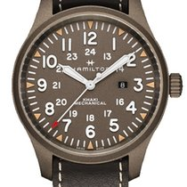 Hamilton Khaki Field Steel 50mm Arabic numerals