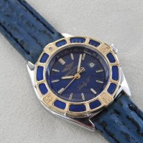 Breitling Lady J Gold/Stahl 31mm Blau