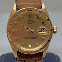 Rolex Oyster Perpetual Date Yellow gold 34mm Silver No numerals United States of America, New York, New York