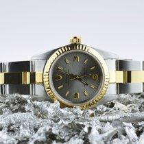 Rolex Oyster Perpetual Goud/Staal 26mm Grijs Geen cijfers Nederland, Goor