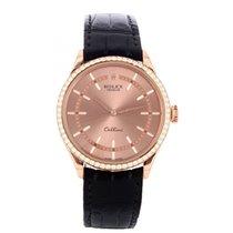 Rolex Cellini Time Ροζέ χρυσό 39mm Χρυσό