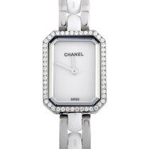 Chanel Steel Quartz White 19.7mm new Première