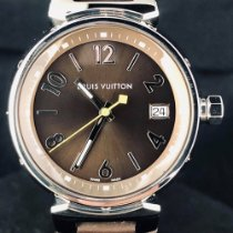 Louis Vuitton Staal 34mm Quartz Q1311 tweedehands