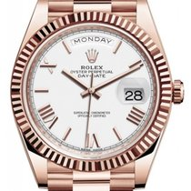 Rolex Day-Date 40 Or rose 40mm Blanc