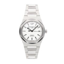 Girard Perregaux Steel Automatic Silver No numerals 38mm pre-owned Laureato